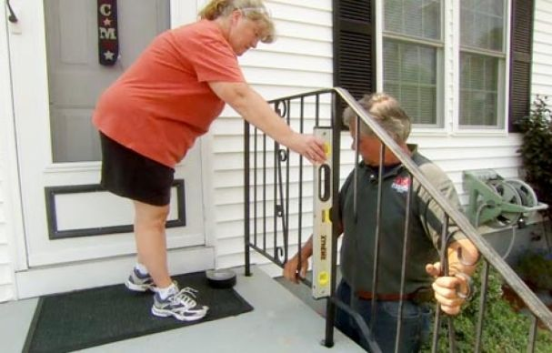 How To Repair A Rusted Wrought Iron Railing Iron Stair Railing