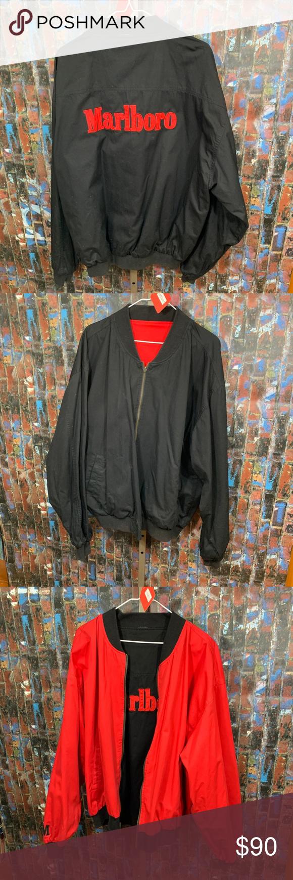 Reversible Marlboro Jacket Marlboro Jacket Jackets Bomber Jacket