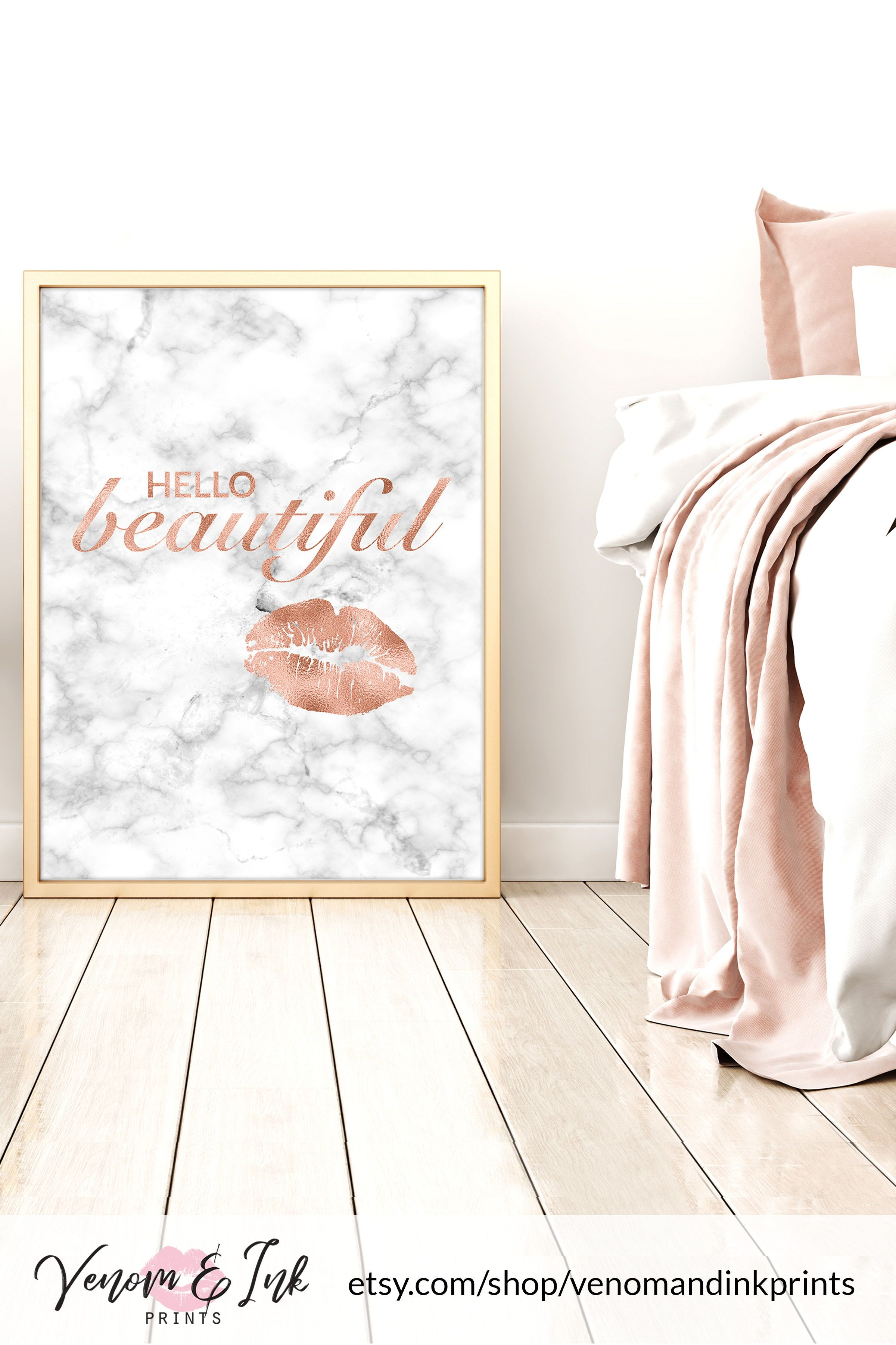 This Rose Gold Decor Is Perfect For Decorating Your Rose Gold Bathroom Bedroom Living Room Or Ki Rose Gold Decor Gold Interior Design Rose Gold Bedroom Decor