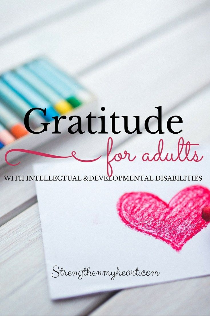 Gratitude for Adults with Intellectual and Developmental