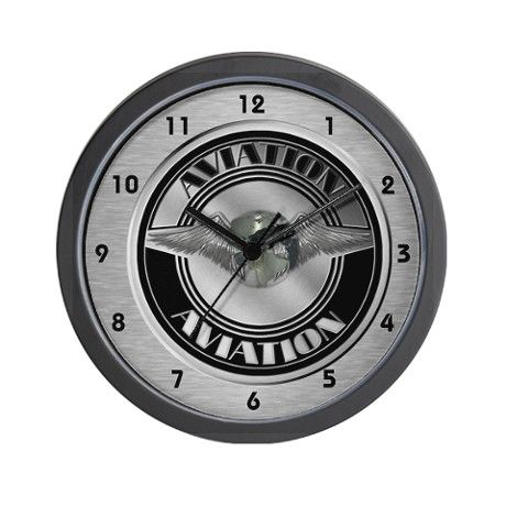 Retro aviation badge wall clock