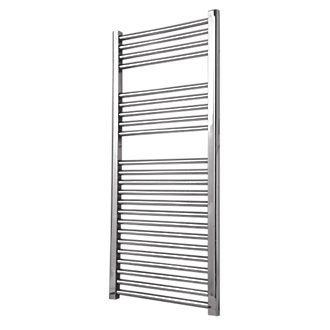 Flomasta Flat Towel Radiator Chrome 1100 X 600mm 385w 1314btu Towel Radiator Chrome Towel Rail