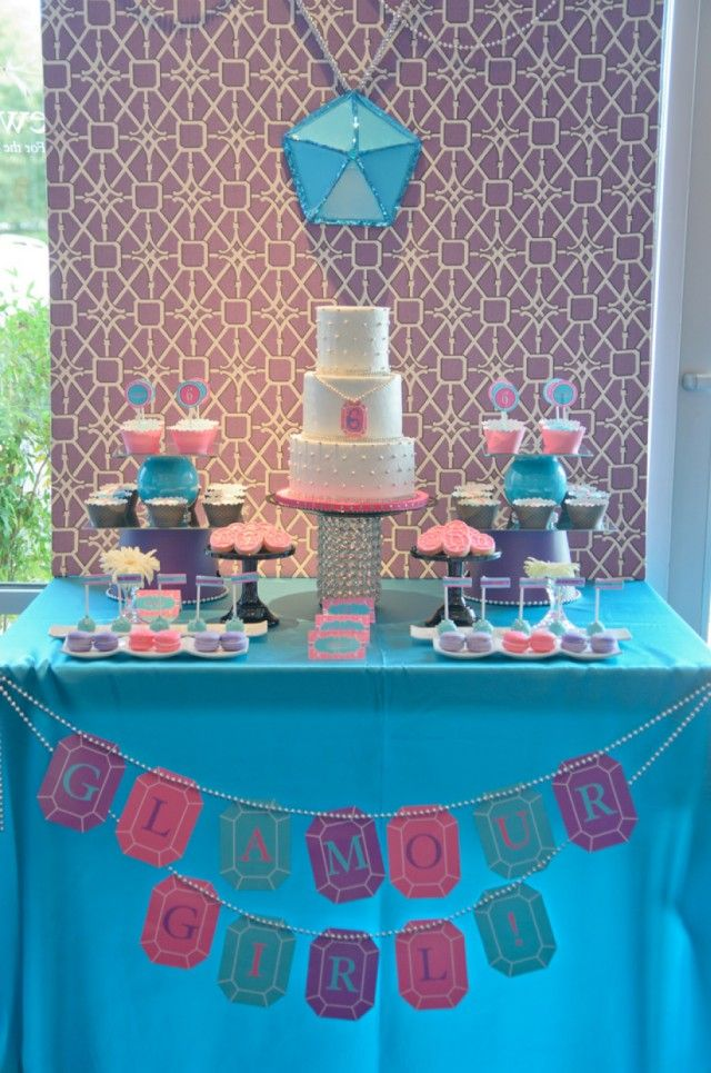 Glamour Girl Jewelry Making Party Theme Via Andersruff Com