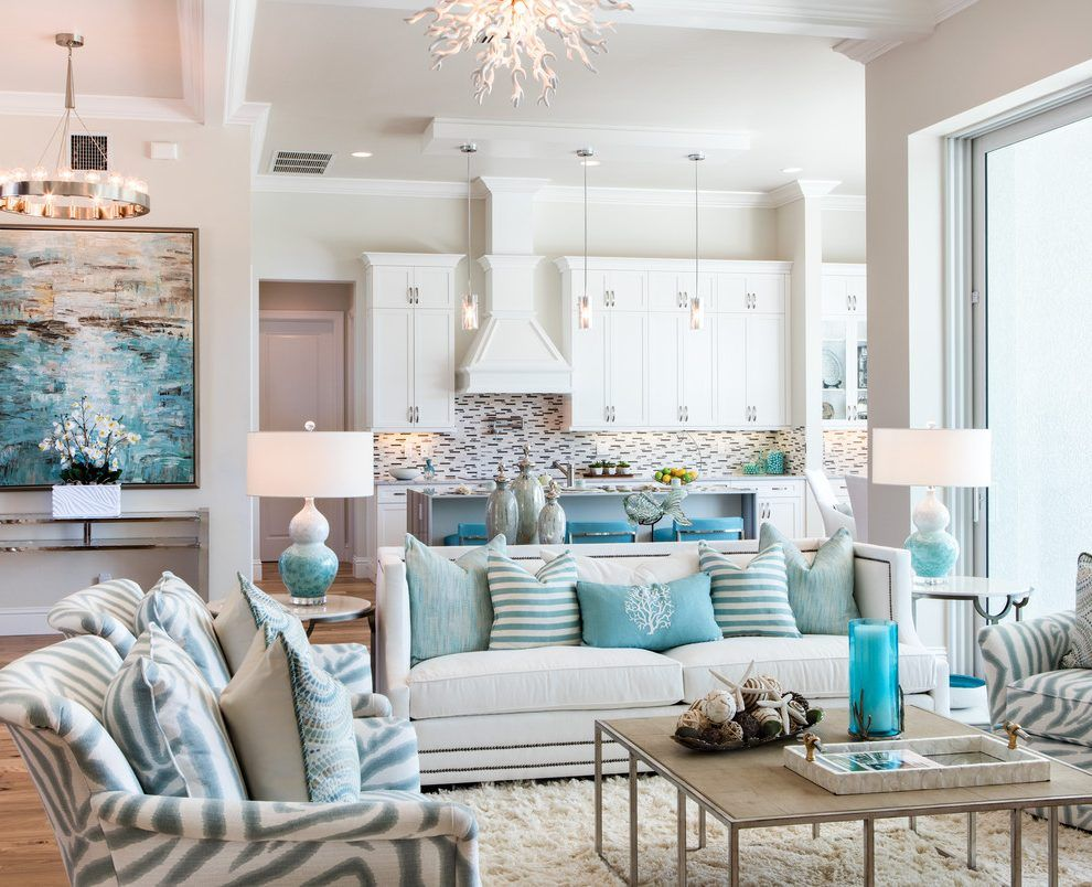 Blue Coral Living Room Beach Style With Coastal Cottage Solid Color Area Rugs Coastal Living Room Furniture Beach House Living Room Coastal Living Rooms Coastal design living room