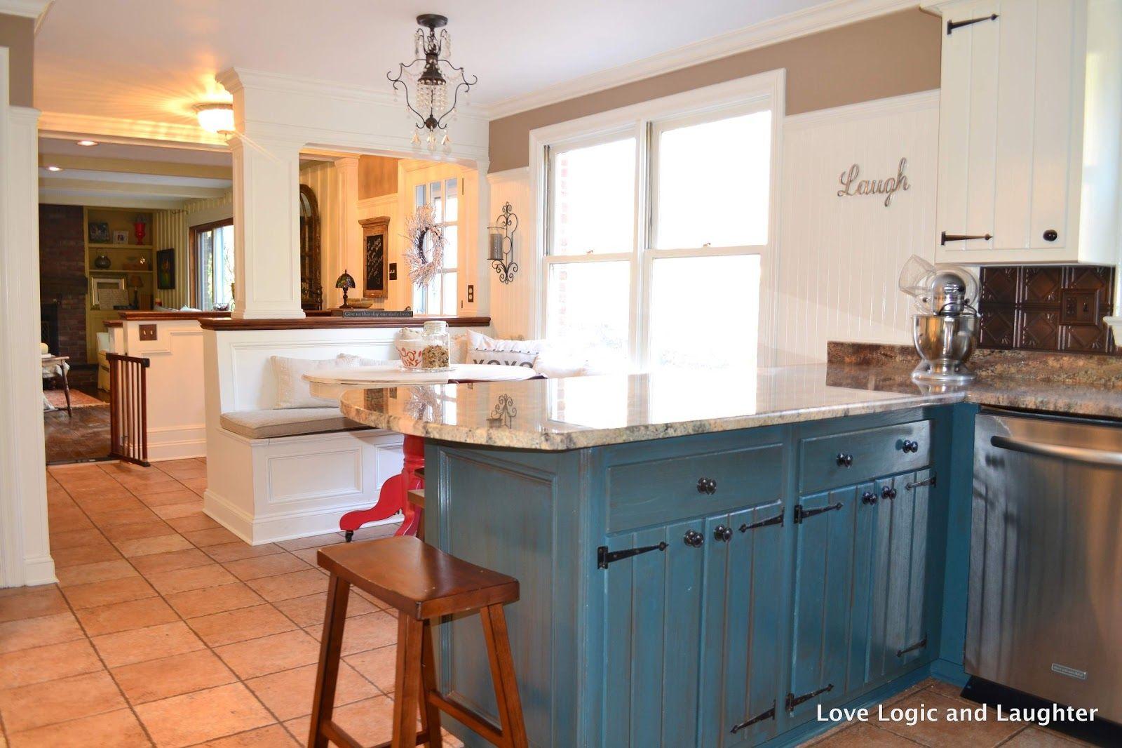 Painted Kitchen Cabinet Ideas Blue Diy Kitchen Cabinet