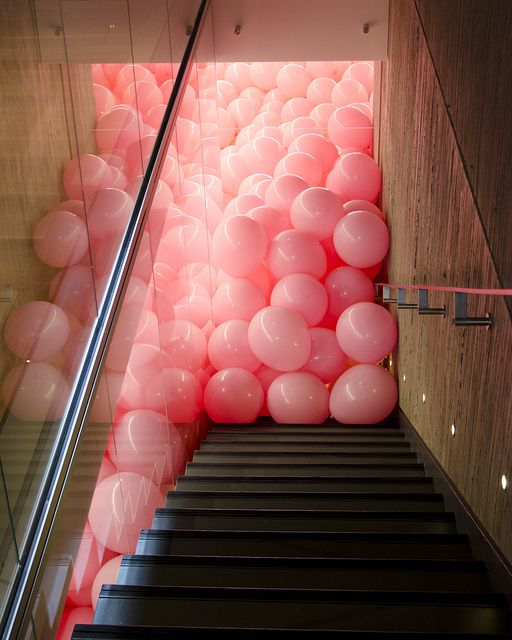 I once filled the bathroom of a hotel with balloons for an ex ...