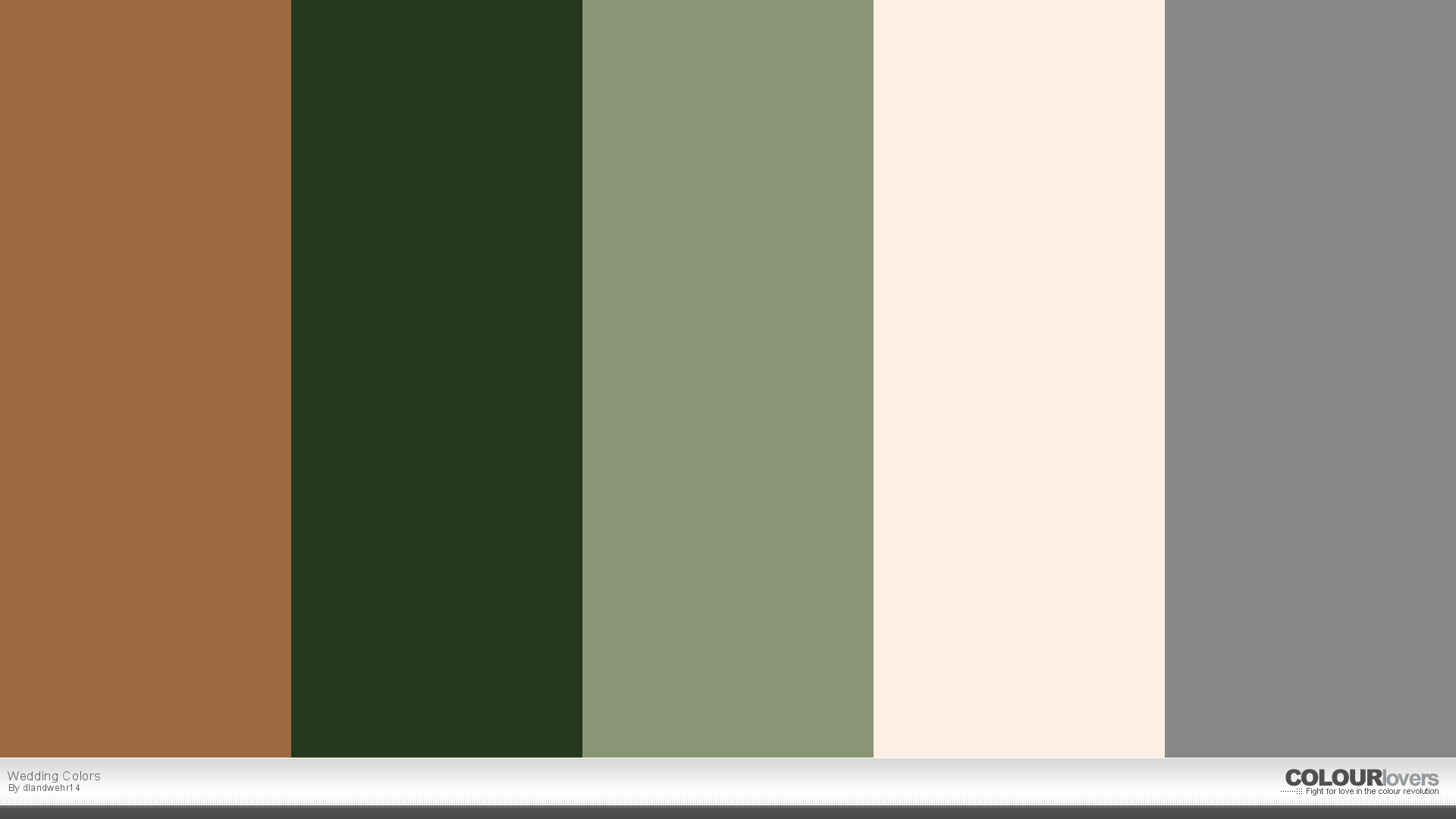 My Wedding Colors Copper Forest Green Sage Ivory Gray