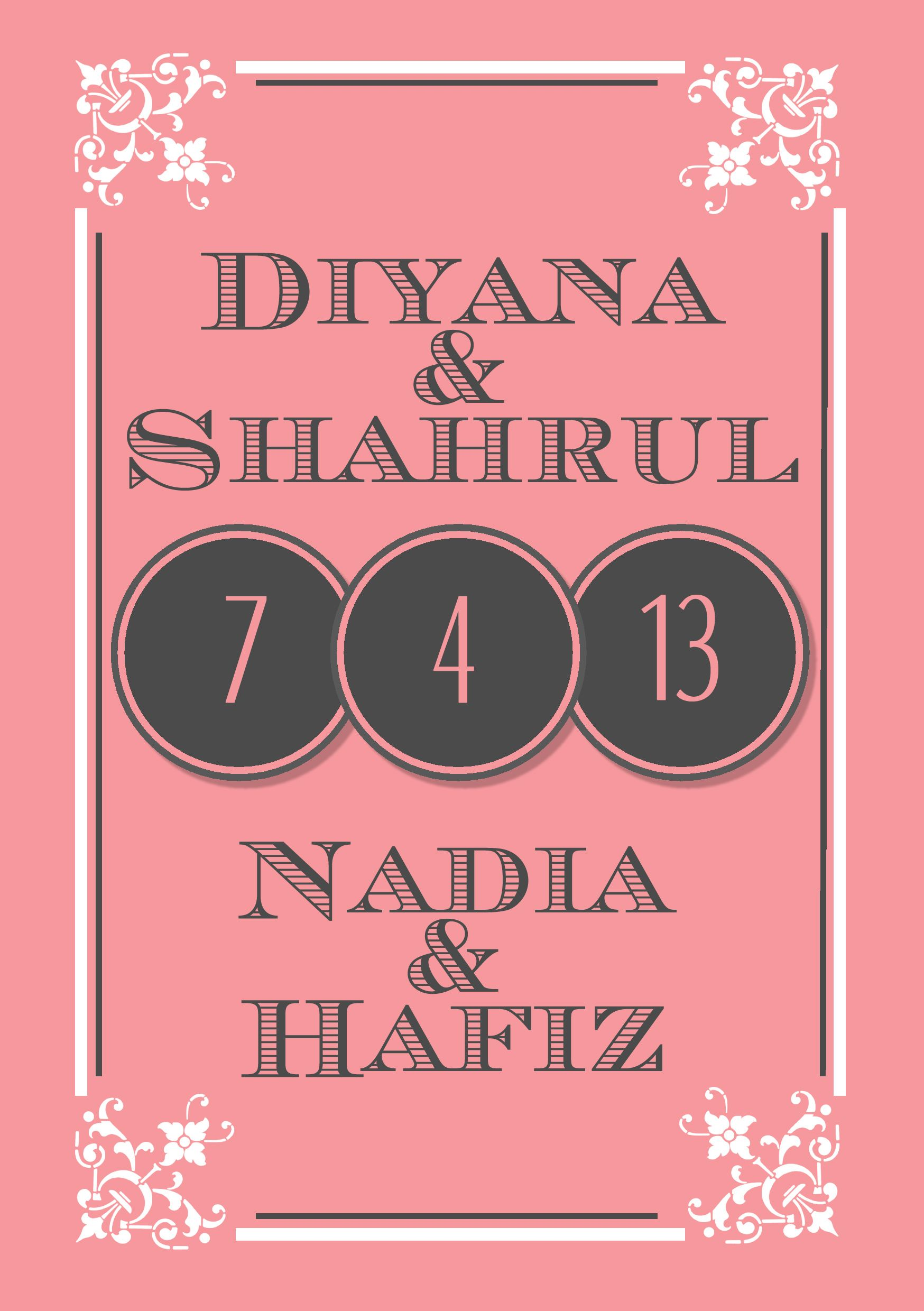 Wedding Card Design for Malay Wedding (Page 1) #nadiasuchendesigns #weddingcard #malaywedding For custom made invitation designs, contact nadiasuchen@gmail. ...