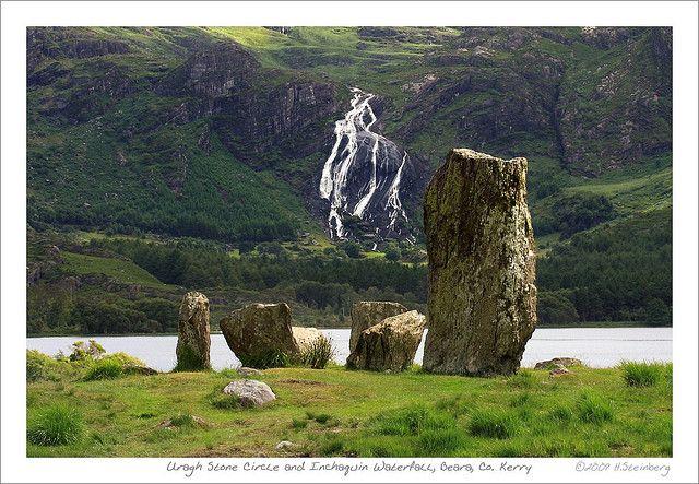 Uragh Stone Circle Inchaquin Waterfall Waterfall Landscape Scenery