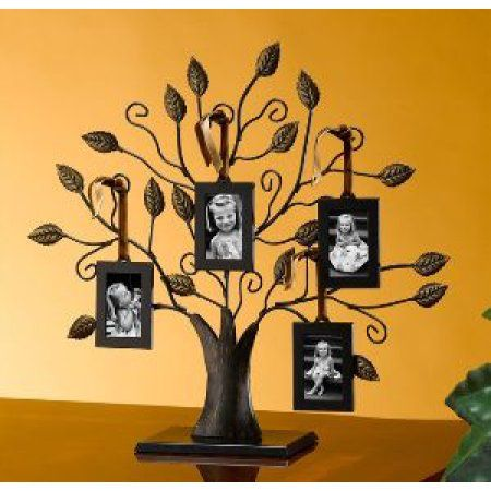 """Family Tree Picture Frame Wall Hanging 13"""" medium bronze family tree of life centerpiece display stand"""