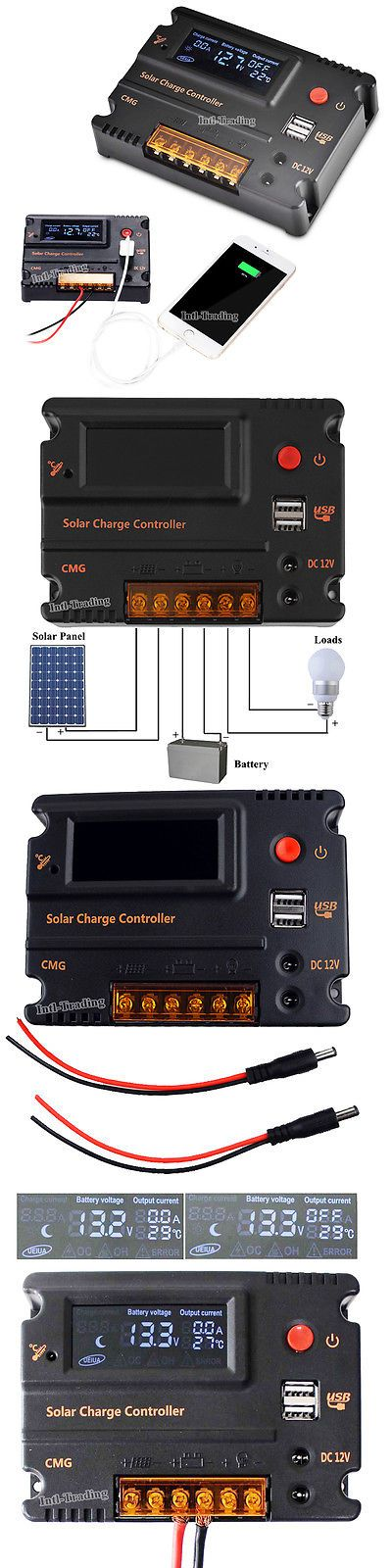 Chargers And Inverters 41980 Cmg 20a Lcd Solar Panel Charge Controller Battery Regulator 12v 24v Auto Switch Buy It Now Only 24 29 Solar Panels Lcd Solar