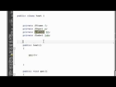 Java Tutorial 11: GUI in Java, JFrame, JPanel, JButton