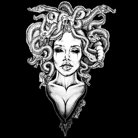 #freetoedit#medusa #medusatattoo #snakes #tattoodesign #tattoo #tattoos #tattooart #tattooideas #tattoomotive #blackandwhite #blackandgrey #blackandgreytattoo #remixit