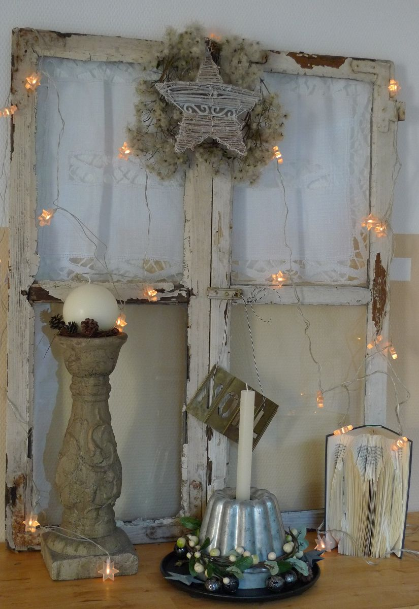 shabby fenster weihnachtlich winterdeko pinterest weihnachten weihnachtsdeko hauseingang. Black Bedroom Furniture Sets. Home Design Ideas