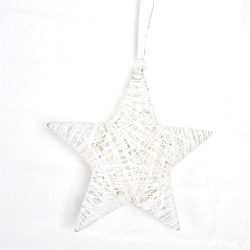 White Star Rattan LED Light