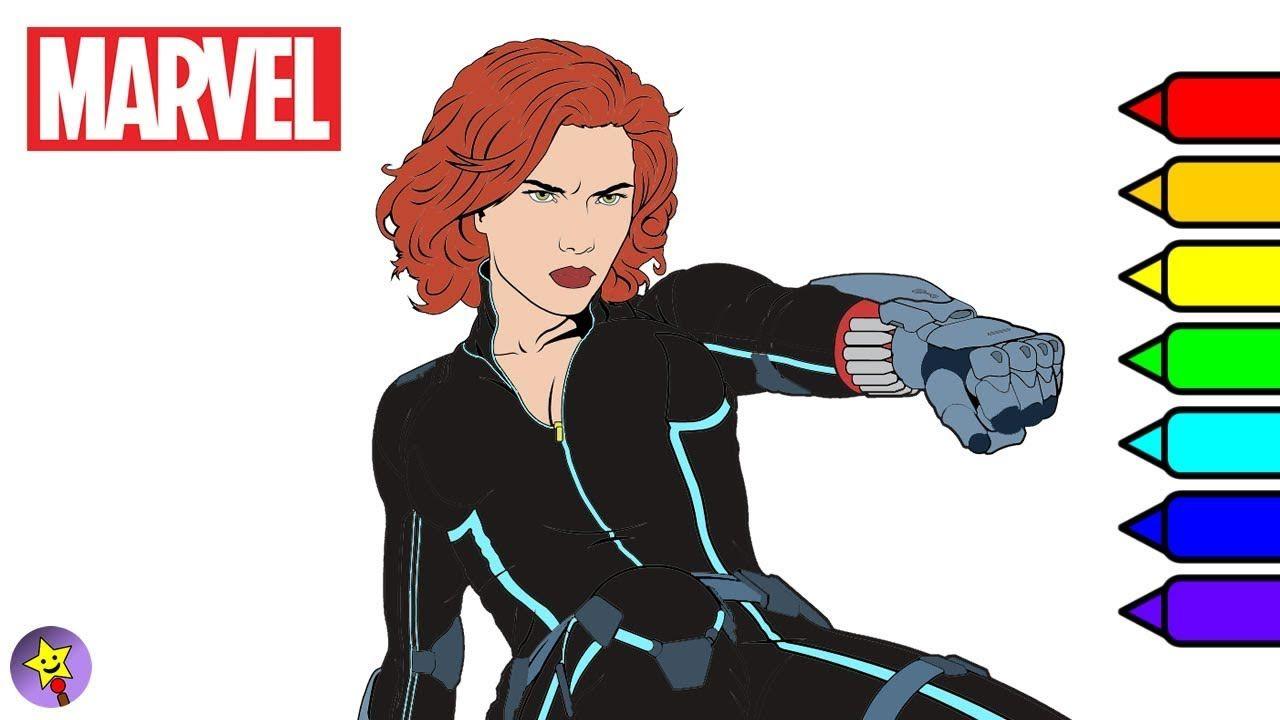 Digital Coloring Of Black Widow Black Widow Coloring Book Page Marvel Avengers Coloring Book Page Mar Black Widow Avengers Black Widow Marvel Avengers Coloring