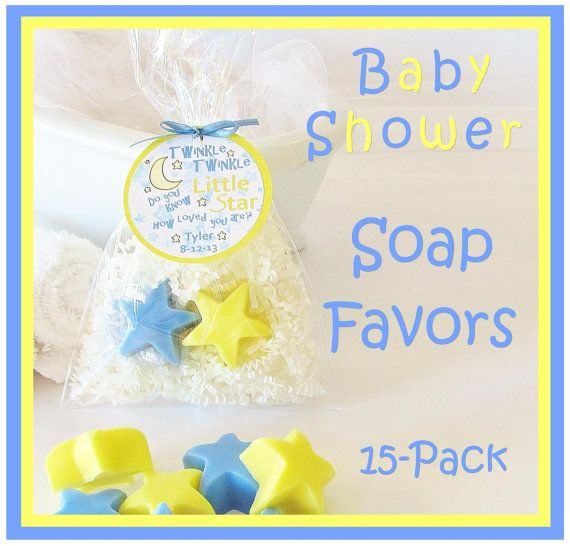 15 TWINKLE LITTLE STAR Boy Baby Shower Soap Favor By Crimsonhill, $38.00