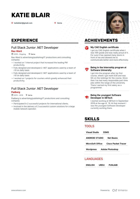 Top Junior Developer Resume Examples & Samples for