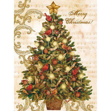 Lang Christmas Tree Boxed Christmas Cards Walmart Com Christmas Tree Cards Lang Christmas Cards Boxed Christmas Cards
