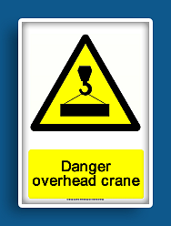 photo about Free Printable Warning Signs known as absolutely free printable chance overhead crane caution indicator