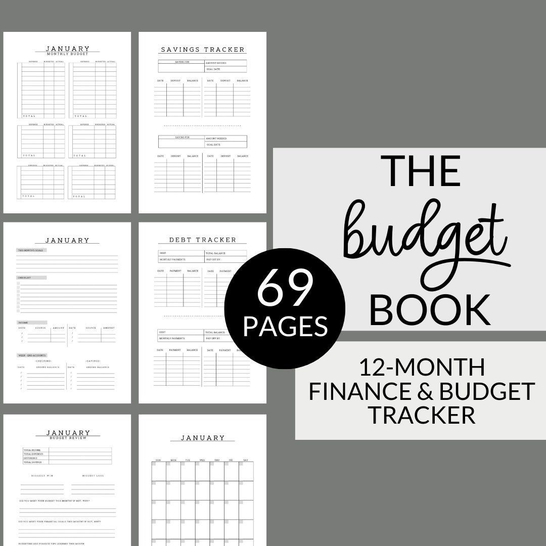 Yearly Budgeting Planner 12 Months Of Finance And Budget
