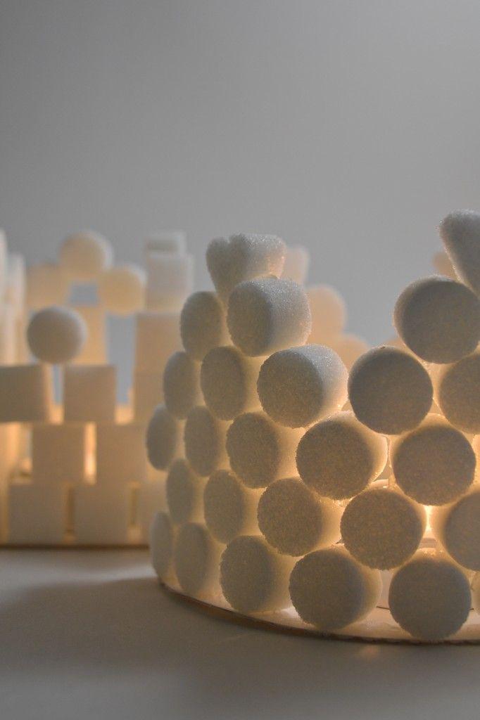 d i y de no l photophores magiques en sucre immediate crafting pinterest xmas. Black Bedroom Furniture Sets. Home Design Ideas