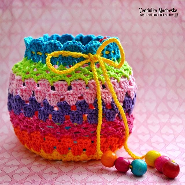 Crochet rainbow purse - free pattern | Bags and pouches | Pinterest ...