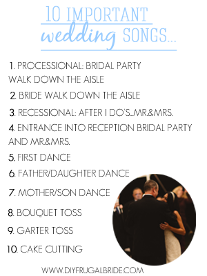 The 10 Important Wedding SongsDont Forget That Its All About