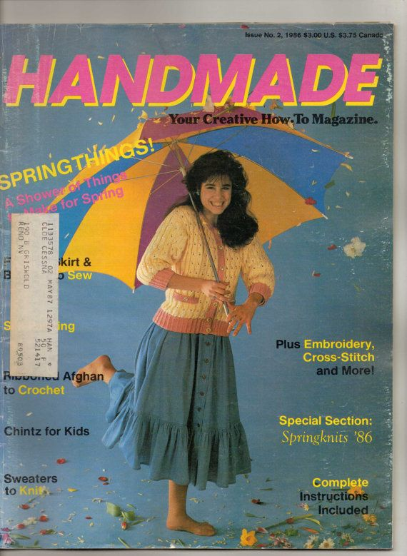 1980s Handmade Your Creative How To Magazine Spring by CloeCessna, $6.95