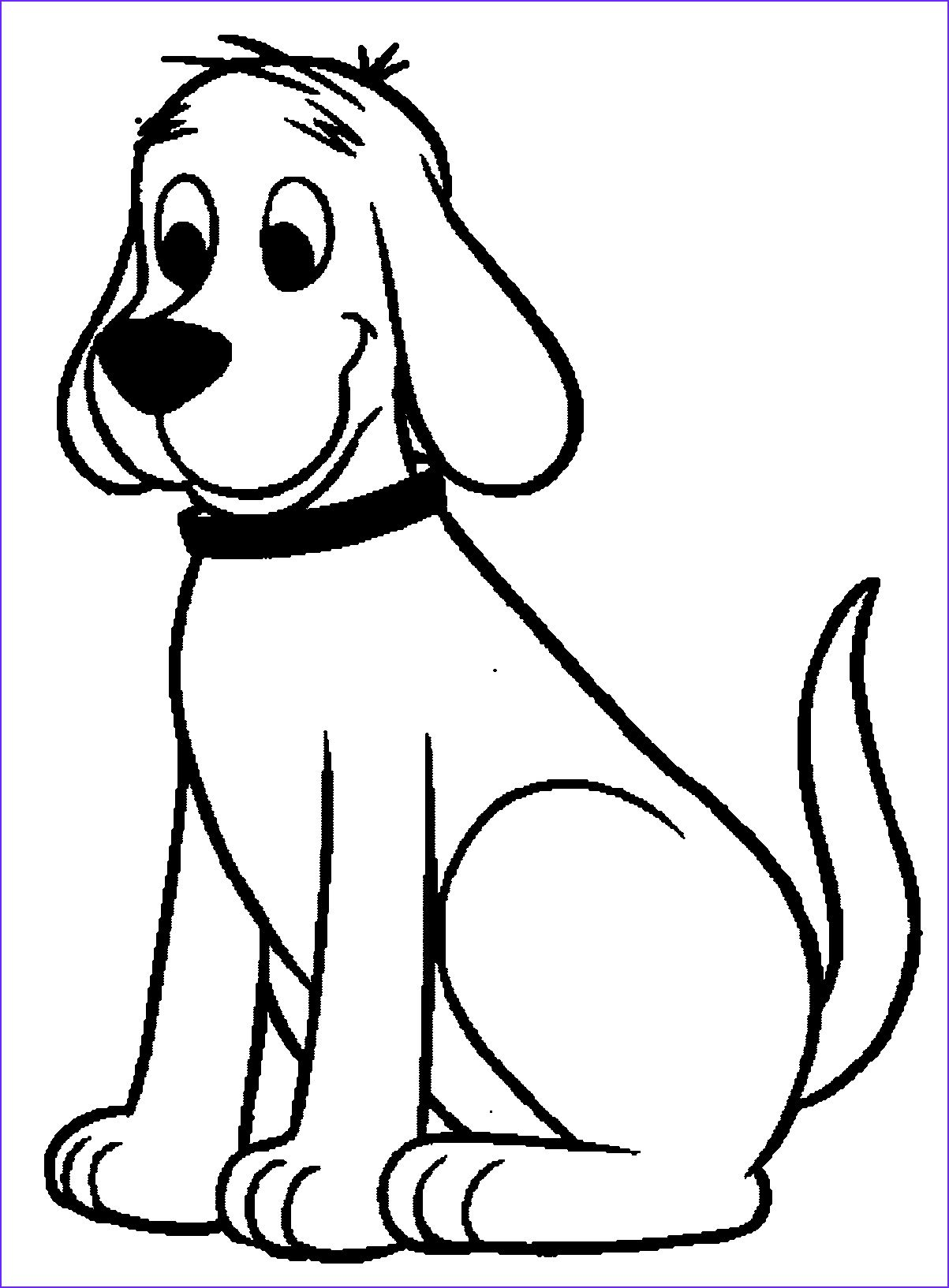 Clifford The Big Red Dog Coloring Pages In