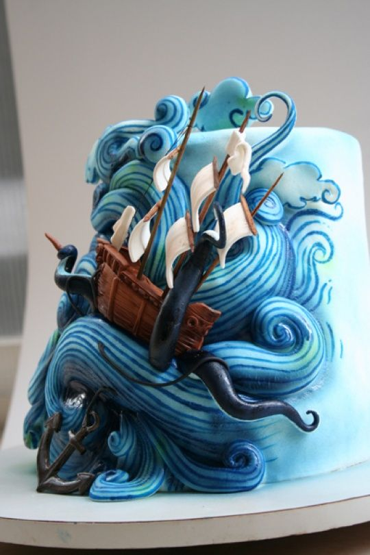 One Of The Most Imaginative Cakes I Have Ever Seen Watch Out For Kraken