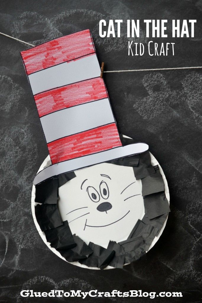 Paper Plate Dr Seuss Cat In The Hat Kid Craft & Paper Plate Dr Seuss Cat In The Hat Kid Craft | Cat Craft and School