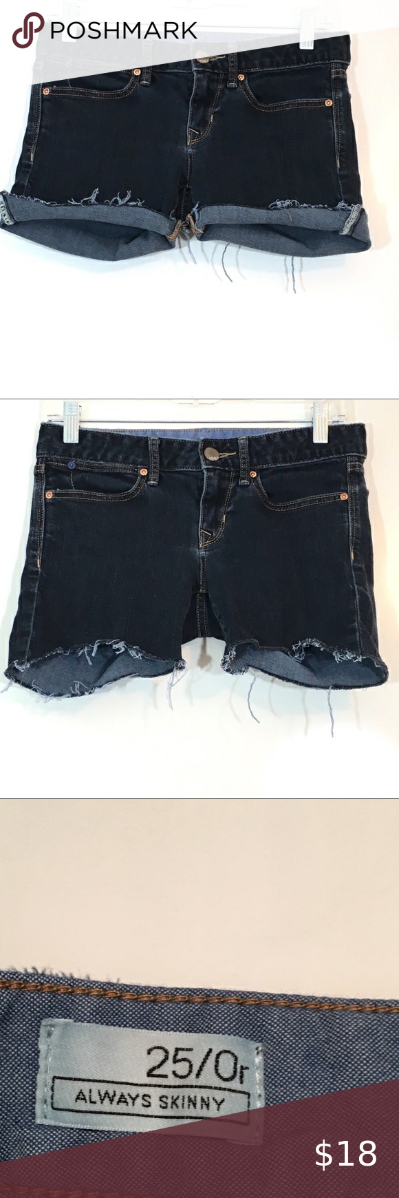 X-Future Womens Rivet Low Waist Cut Off Ripped Holes Denim Shorts Jeans