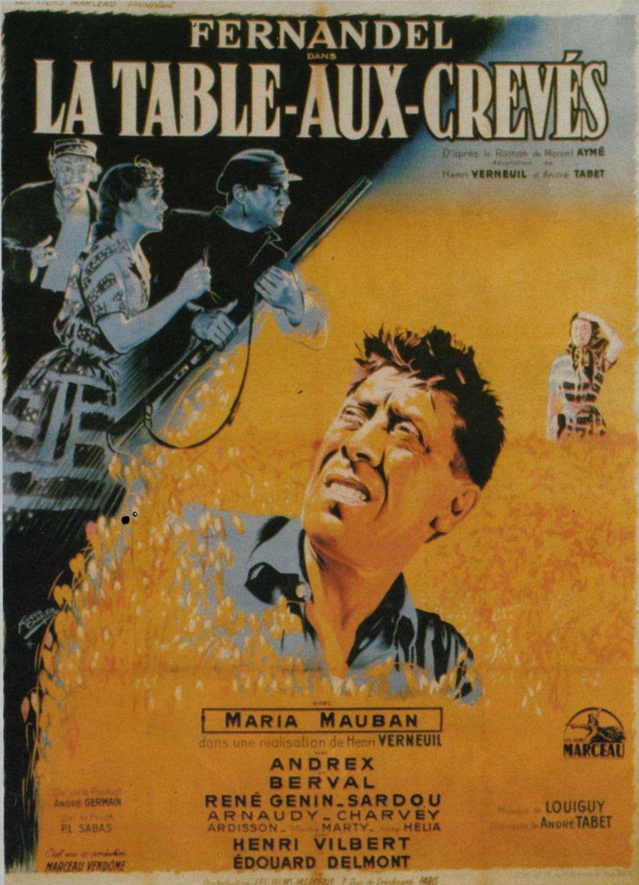 La Table Aux Creves Est Un Film Francais Realise Par Henri Verneuil Sorti En 1951 Frederic Gari Est Arrete Pour Contreban Frero Delavega Cinema Michel Sardou