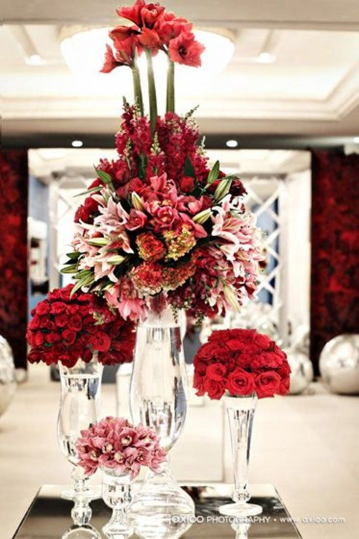 Modern christmas flower arrangements rsvp