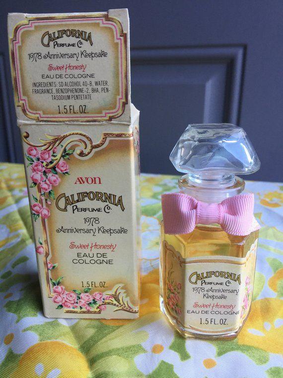 NIB Vintage Avon Sweet Honesty Eau De Cologne Keepsake Edition, 1978