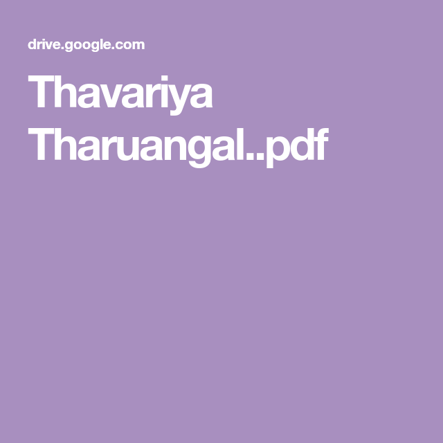 Thavariya Tharuangal  pdf | Download in 2019 | Pdf, Free ebooks, Novels