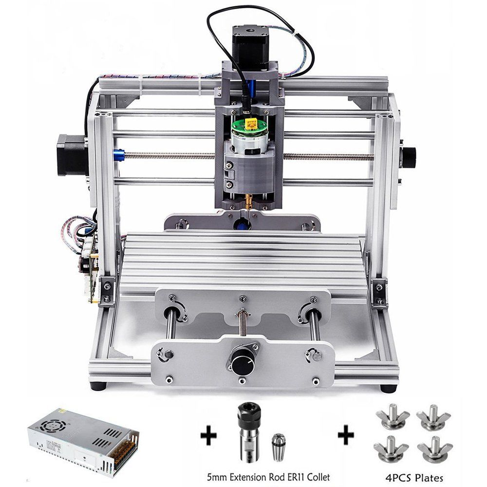 DIY CNC Router Kit Mini Milling Machine 24x17cm GRBL