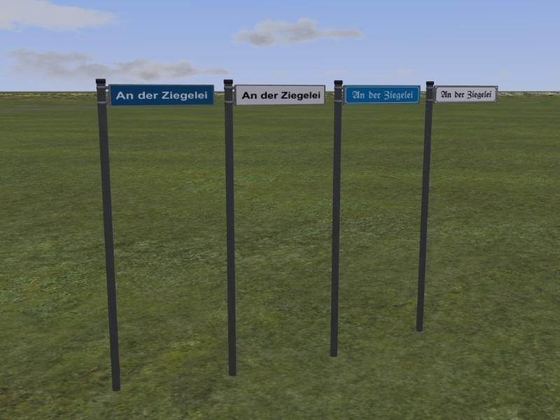 Straßennamenschilder mit Tauschtextur im Set. Ab #EEP10 http://bit.ly/Straßennamenschilder-Tauschtextur