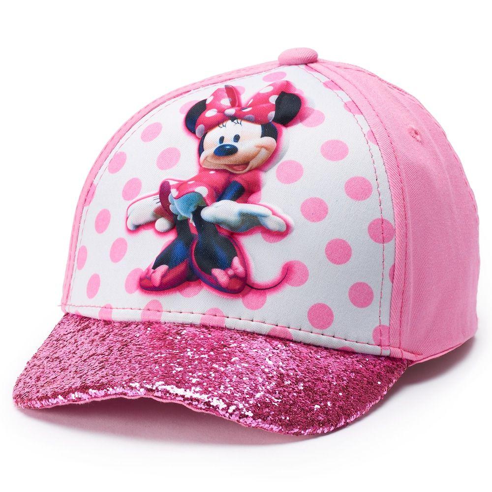 daeabba89 Disney's Minnie Mouse Toddler Girl Glittery Baseball Cap Hat, Size: 2T-4T,  Pink