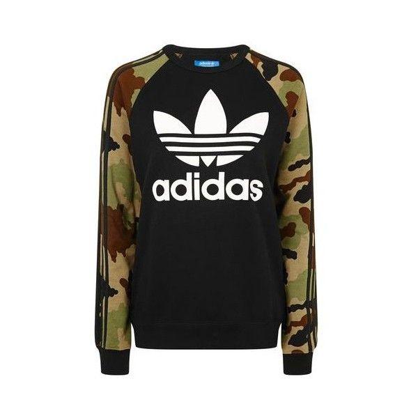 online store 61dfd e6ca8 Camo Print Trefoil Sweatshirt by Adidas Originals ($70 ...