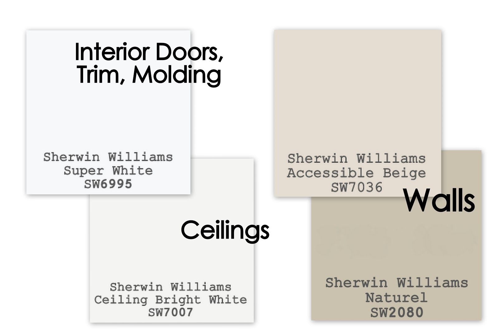 Paint colors to sell your home for walls i use sherwin for Beige white paint color