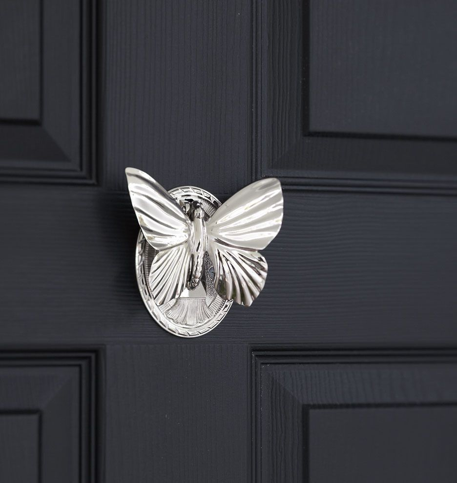 Butterfly Door Knocker (Polished Nickel, Unlacquered Brass, Oil Rubbed  Bronze, Burnished Antique, Brushed Nickel, Lacquered Brass) $50