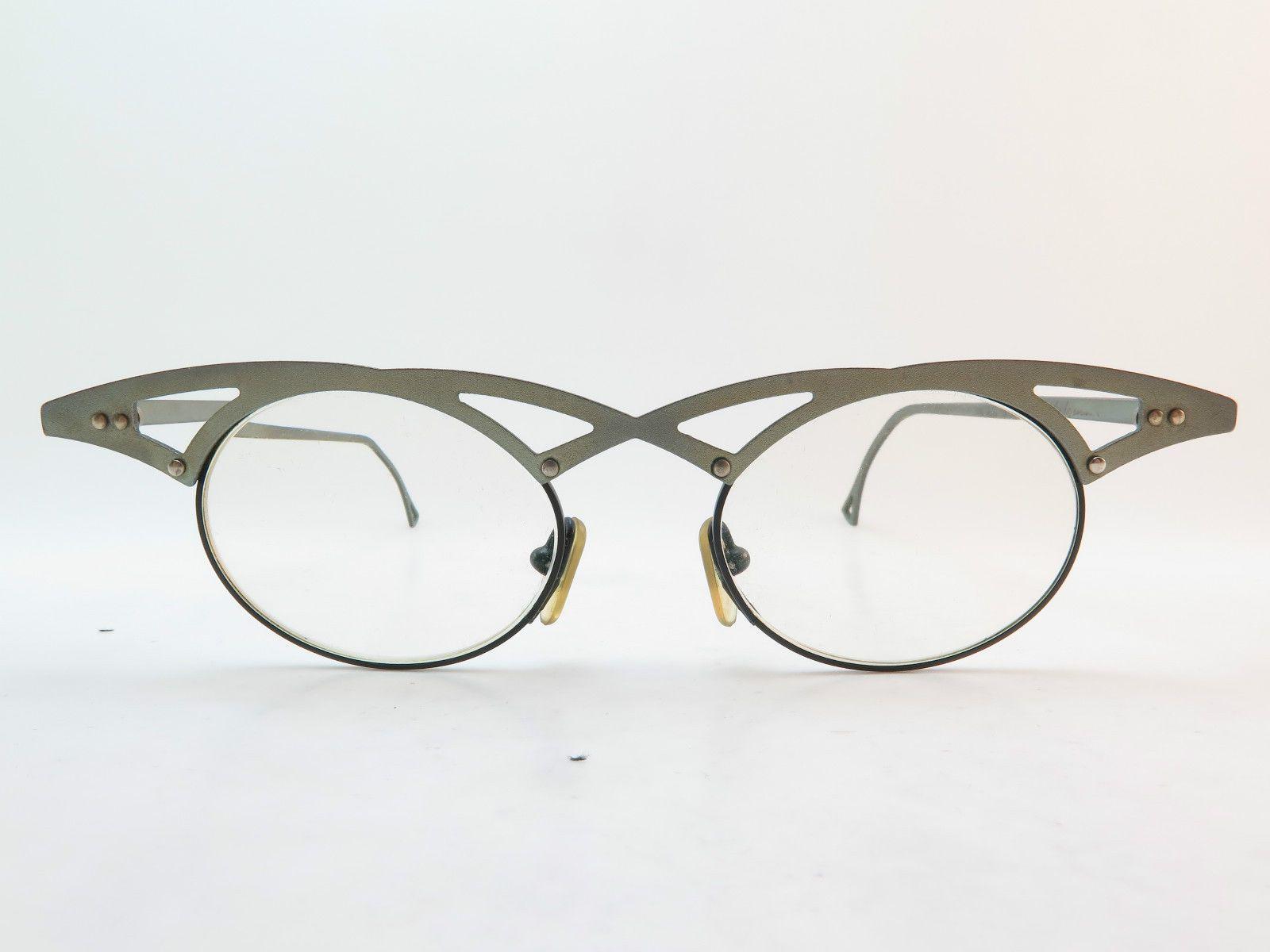 c91a44c469d214 Vintage Theo Eyeglasses Frames w Case Hand Made Belgium