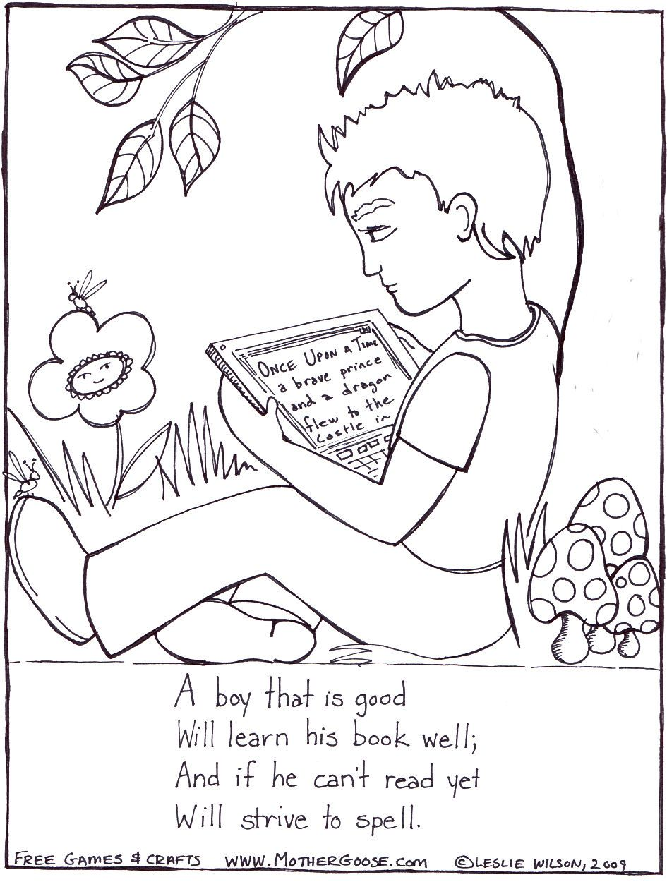Sunday Nursery Coloring Book For Children