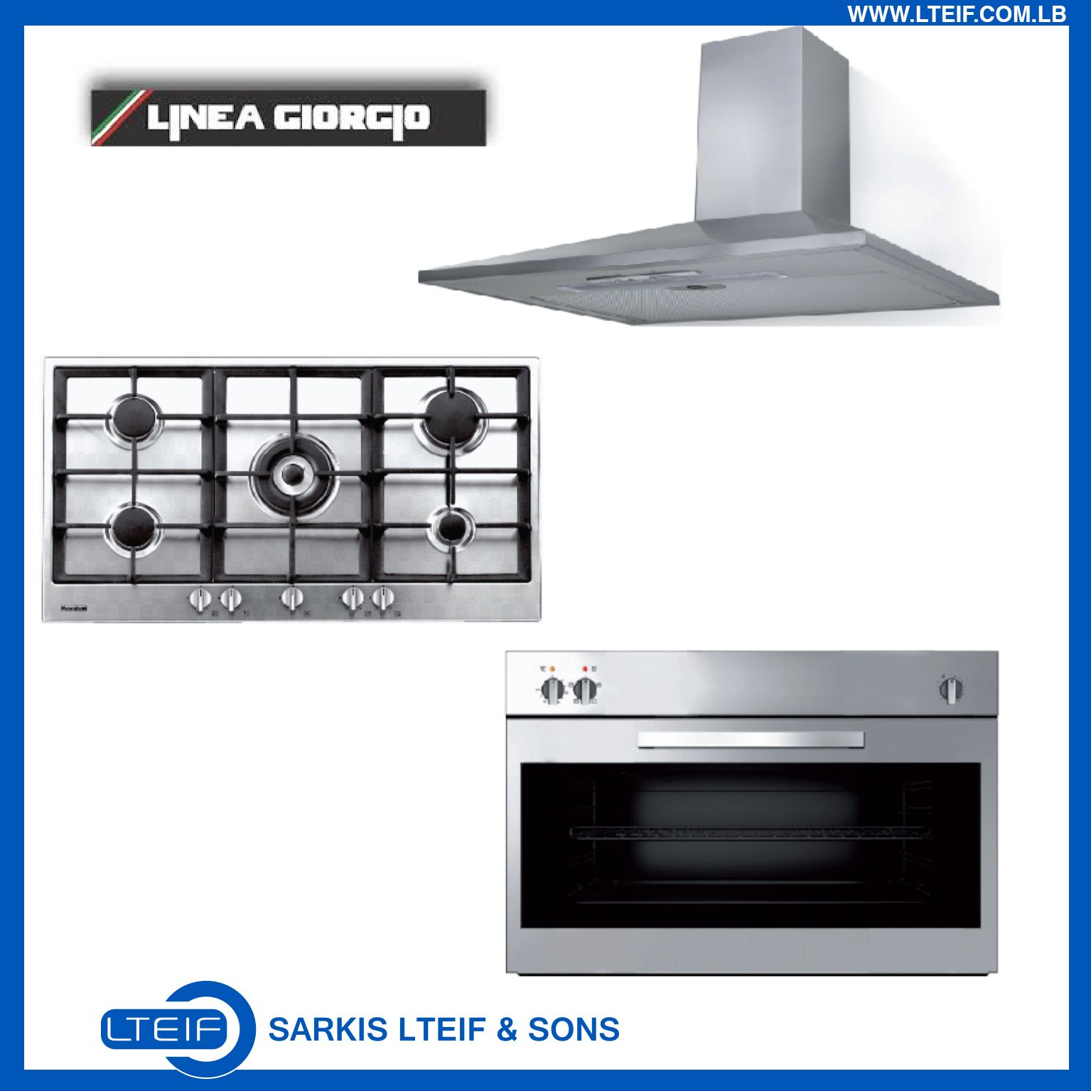 linea giorgio 90cm hood top and oven for 1599 ttc only products