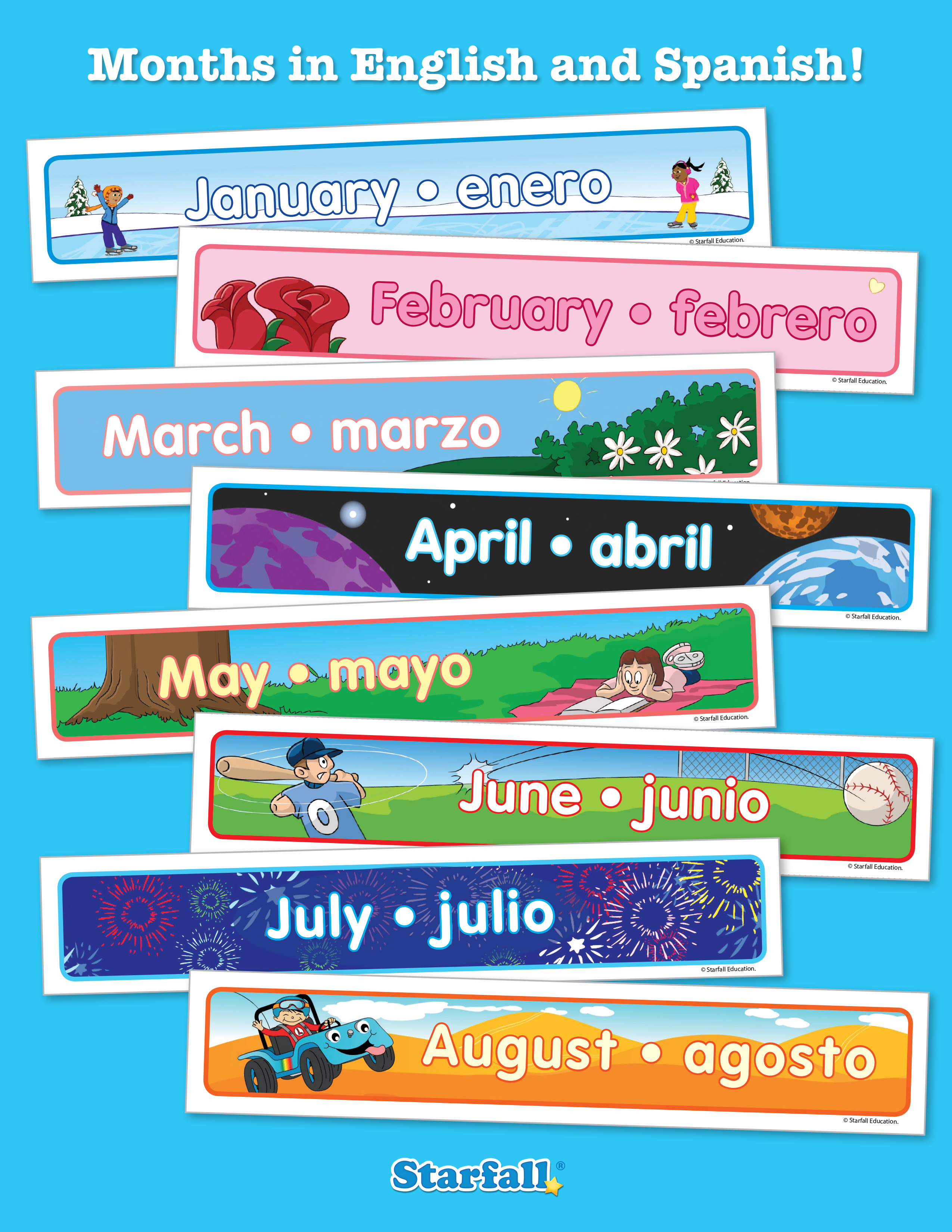 Free Downloads Months In Spanish And English