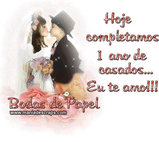 1ano De Casados Casamento Frases Bodas De Casamento Bodas