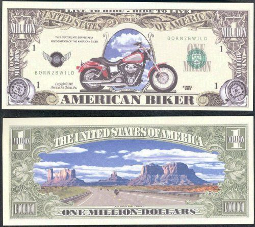 Set of 100 American Biker Million Dollar Bill
