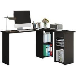 Vcm mein Büro Lusias Schreibtisch schwarz rechteckig